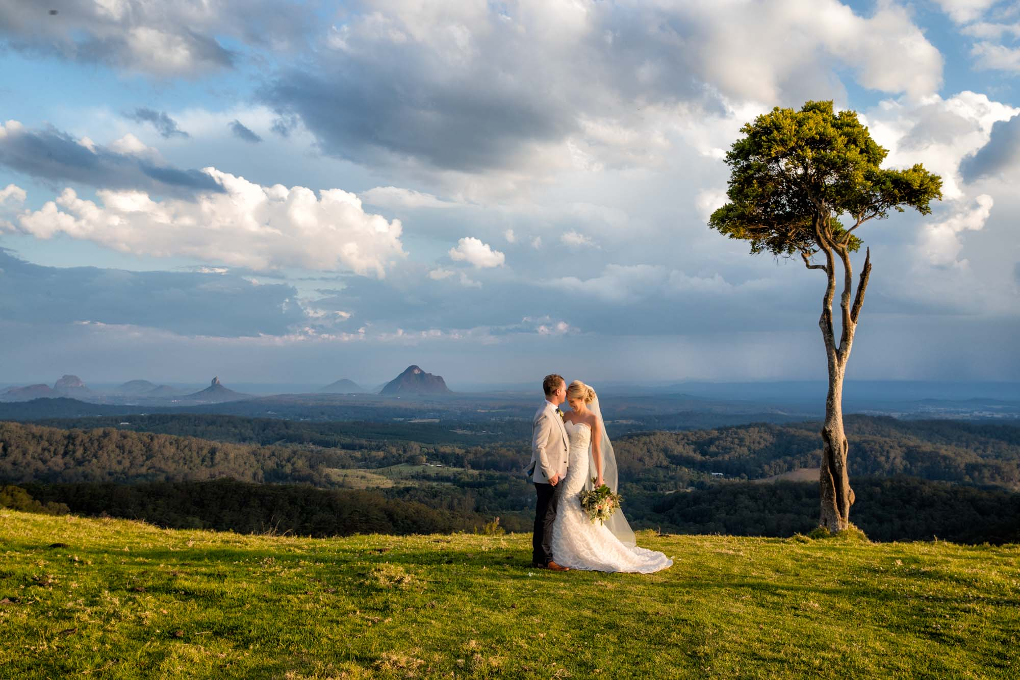 One Tree Hill Wedding Photo in Maleny
