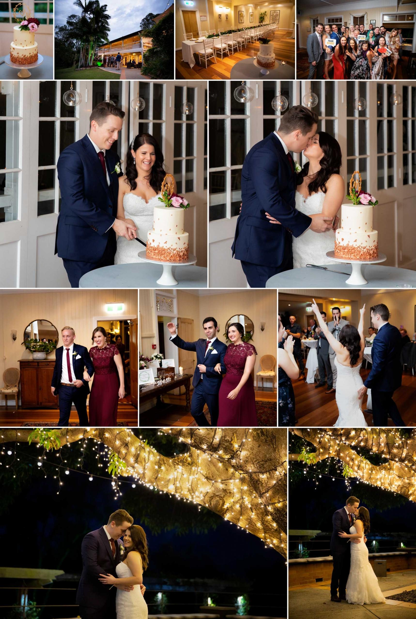 Hillstone St Lucia Wedding reception photographs
