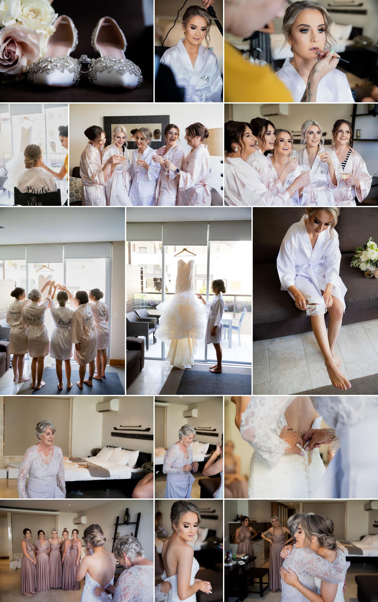 Bride Preparation Photographs for Osteria Wedding