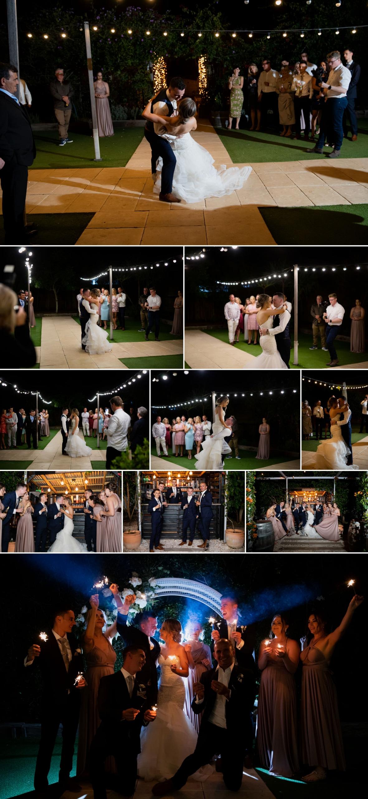 Wedding reception photos at Osteria Casuarina